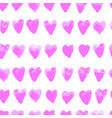 colorful seamless pattern with hearts vector image vector image