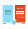 company networking splash screen and login page vector image