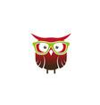 creative owl geek logo design symbol vector image
