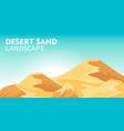 desert sand landscape background vector image