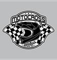 design helmets motocross logo vector image vector image
