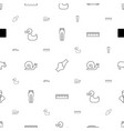 drawing icons pattern seamless white background vector image vector image