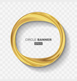 empty abstract golden shiny ring banner vector image vector image