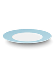 Empty light blue plate isolated on white vector image vector image