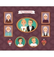 Family portrait Wall with family photo frames vector image vector image