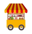 fast food cart icon vector image