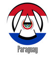 flag of paraguay of the world in the form of a vector image vector image
