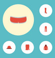 flat icons elegant headgear pants boots and vector image vector image