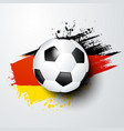 football soccer ball and germany flag colors vector image vector image