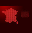 france map abstract schematic from red triangles vector image vector image