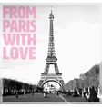From Paris with Love - Romantic card with quote vector image