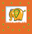 fruity elephant vector image vector image