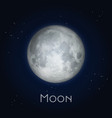 full moon or half luna closeup with craters vector image vector image