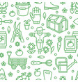 gardening planting and horticulture green vector image vector image