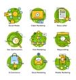 Green Digital Marketing Concept vector image vector image