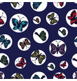 hand drawn multi colored butterflies arranged in vector image vector image