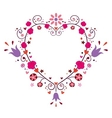 heart frame with flowers vector image vector image
