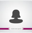 human icon simple user vector image