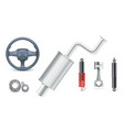 icons car parts for auto services various car vector image vector image