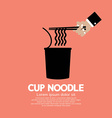 Instant Cup Noodle vector image vector image