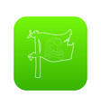 jolly roger icon green vector image vector image