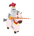 Knight with spear and horse vector image vector image