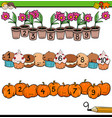 mathematical counting activity for preschool kids vector image vector image
