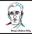 maurice merleau-ponty portrait vector image vector image