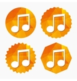 Music note sign icon Musical symbol vector image vector image