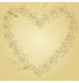Old valentine paper vector image vector image