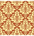 orange and beige seamless damask pattern vector image vector image