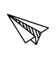paper plane doodle on white background vector image