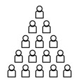 people pyramid icon black color flat style simple vector image vector image