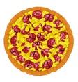 Pizza Hawaiian Slice vector image vector image