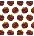 pumpkin vegetable food fresh pattern vector image