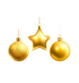 realistic christmas tree decor balls stars vector image