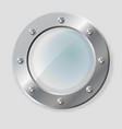realistic of metal porthole of vector image vector image