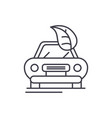 retro car line icon concept retro car vector image vector image