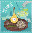rice bran oil used for cooking vector image