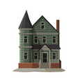 scary gothic house halloween haunted mansion vector image vector image