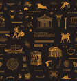 seamless pattern on theme ancient greece vector image vector image