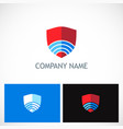 shield technology company logo vector image vector image
