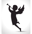 silhouette angel manger isolated design vector image