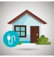 smart home with energy plug isolated icon design vector image vector image