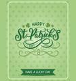 st patrick day shamrock greeting card vector image