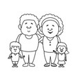 stock of a family portrait of vector image vector image