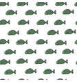 swimming fishes seamless pattern vector image vector image