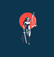 the goddess of justice themis vector image vector image