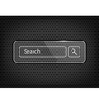 transparent search button on pattern vector image vector image