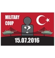 turkey military coup tank against background vector image